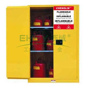 成霖 黄色安全柜双门/手动,2块可调层板90加仑,CL809000