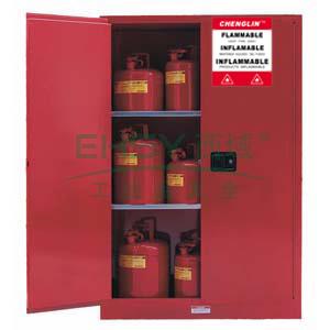 成霖 红色安全柜双门/手动,2块可调层板90加仑,CL809001