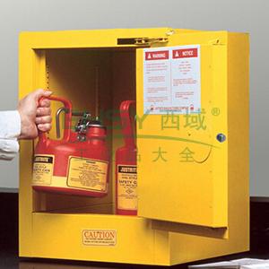 杰斯瑞特 4加仑黄色安全柜,单门,自闭,8904201