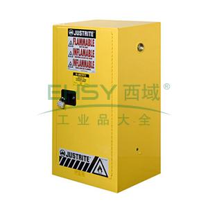 杰斯瑞特 15加仑黄色安全柜。单门,手动,8915001