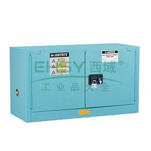 JUSTRITE/杰斯瑞特 蓝色弱腐蚀性液体存储柜,FM认证,17加仑/64升,双门/自动,背负式,8917221