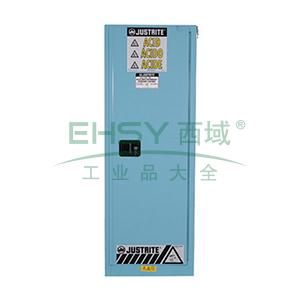 JUSTRITE/杰斯瑞特 蓝色弱腐蚀性液体存储柜,FM认证,22加仑/83升,单门/手动,细长型,8922021