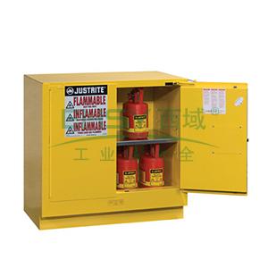 JUSTRITE/杰斯瑞特 黄色易燃液体存储柜,FM认证,22加仑/83升,双门/手动,台下式,8923001