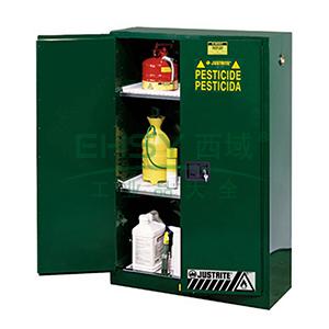 JUSTRITE/杰斯瑞特 绿色农药杀虫剂存储柜,FM认证,45加仑/170升,双门/手动,8945041