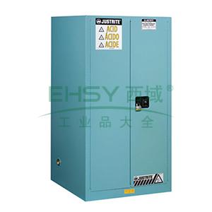 JUSTRITE/杰斯瑞特 蓝色弱腐蚀性液体存储柜,FM认证,90加仑/341升,双门/手动,8990021
