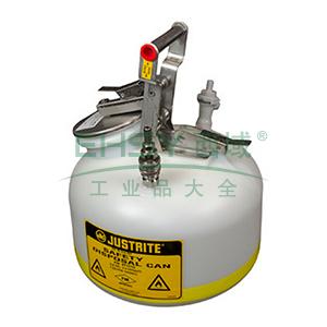 杰斯瑞特 2加仑(7.5升)HPLC快接不锈钢喷嘴废液罐,BY12752
