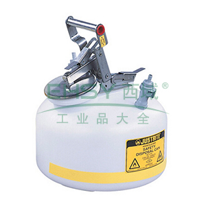 杰斯瑞特 2加仑(7.5升)HPLC快接聚丙烯废液罐,PP12752
