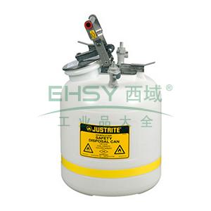 杰斯瑞特 5加仑(19升)HPLC快接聚丙烯废液罐,PP12755