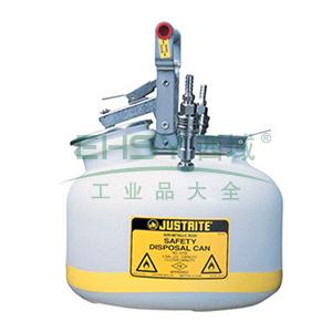 杰斯瑞特 2加仑(7.5升)HPLC快接不锈钢废液罐,TF12752