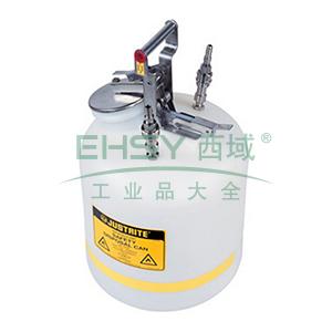 JUSTRITE/杰斯瑞特 HPLC安全处置罐,5加仑/19升,不锈钢1号2号接头,TF12755