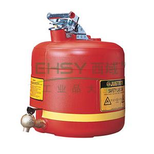 杰斯瑞特 5加仑(19升)聚乙烯安全罐,带自闭龙头(小),14545Z