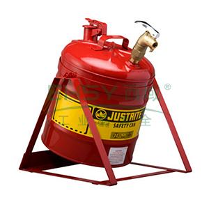杰斯瑞特 5加仑(19升)红色倾斜安全罐,带自闭龙头和支架,7150156