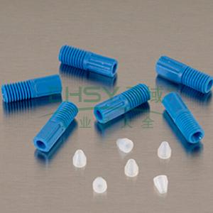 JUSTRITE/杰斯瑞特 3mm外径(2mm内径)废液管接头,6只装,28188