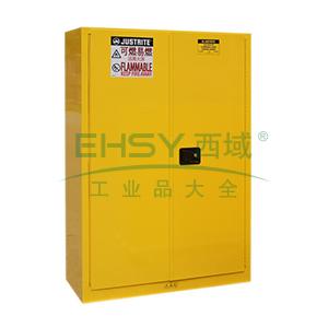 JUSTRITE/杰斯瑞特 黄色易燃液体存储柜(不带通风口),FM认证,45加仑/170升,双门/手动,8545001
