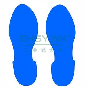5S管理地贴(脚印)-超强耐磨地贴材料,蓝色,280×100mm,1对/包,15815