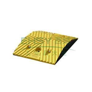 重载橡胶减速带(10吨)-优质原生橡胶,含安装配件,黄色,250×350×50mm,14456