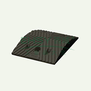 重载橡胶减速带(10吨)-优质原生橡胶,含安装配件,黑色,250×350×50mm,14457
