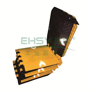 便携式减速带(折叠式)-高强度塑胶材质,黄黑条纹,含收纳包,展开规格3000×250×25mm,11025