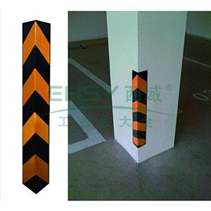 反光墙角保护器(直角)-优质原生橡胶,黄色反光条纹,含安装配件,高800mm,11401