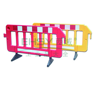 组合式围栏-高强度塑料材质,原生橡胶底座,表面覆工程级反光膜,2000×400×1000mm,14474