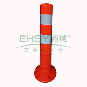 弹性警示柱(低位)-柔性塑料材质,覆工程级反光膜,含安装配件,高450mm,14477