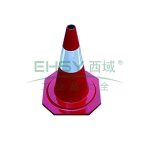 橡胶反光路锥-原生橡胶材质,工程级反光膜,净重2kg,500×350×350mm,14479