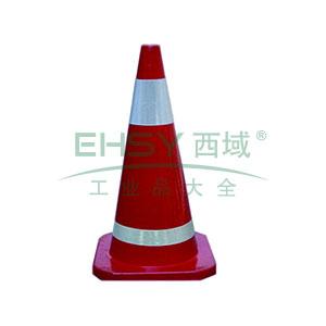 橡胶反光路锥-原生橡胶材质,工程级反光膜,净重2.5kg,700×400×400mm,14480