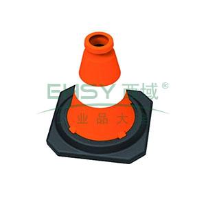 PE反光路锥-高强度PE材质,工程级反光膜,原生橡胶底座,净重1.5kg,500×280×280mm,14481