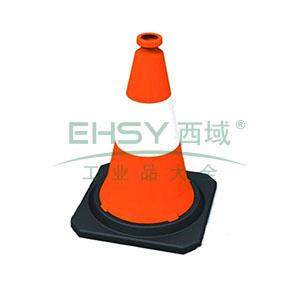 PE反光路锥-高强度PE材质,工程级反光膜,原生橡胶底座,净重2.5kg,750×350×350mm,14482