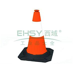 PE反光路锥-高强度PE材质,工程级反光膜,原生橡胶底座,净重5kg,1000×490×490mm,14483