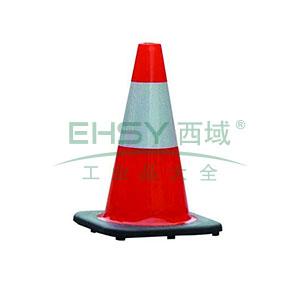 PVC反光路锥-高强度PVC材质,工程级反光膜,原生橡胶底座,净重1.5kg,450×270×270mm,14484