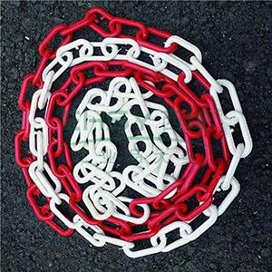 塑料隔离链条-高强度塑料材质,红白相间,25m/卷,14487