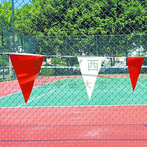 警示红白旗-涤纶布材质,红白相间,三角旗尺寸140×180mm,10m/卷,14107