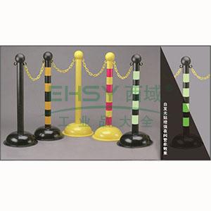 警示隔离柱(黑色)-高强度工程塑料材质,黑色,底座Φ40cm,柱高104cm,14110