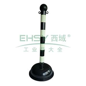 警示隔离柱(自发光款)-高强度工程塑料材质,自发光条纹,底座Φ40cm,高104cm,14115