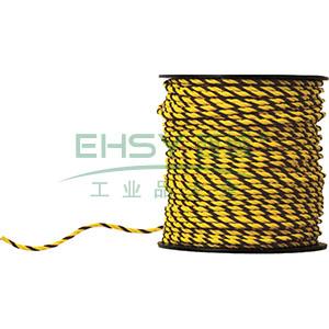 警示隔离绳-高强度尼龙材质,黄黑条纹,Φ10mm×50m,14106