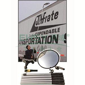 安全检查镜-铝合金伸缩杆,PC镜面,伸缩杆长范围0.5-1m,镜面Φ300mm,14319