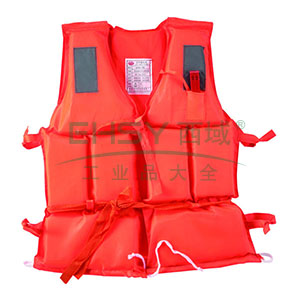 救生衣-高密度聚乙烯发泡材料,亮橙色尼龙布面料,配反光片,符合GB4304-84标准,均码,14511