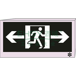 LED消防应急标志灯(双向安全出口)-LED光源,镍铬电池,外接220V电源,328×169mm,20129
