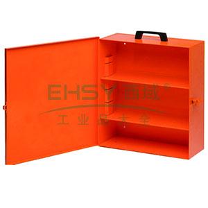 锁具管理箱(空箱)-橙色粉末喷涂钢板,内置2个层板,箱门可上锁,415×350×148mm,14736