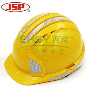 JSP 01-9641 威力9 ABS T类安全帽,黄色,反光贴膜(调整轮)