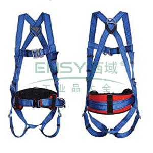羿科 PN02全身式两挂点带护腰安全带,60816718