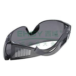 罗卡DK1防护眼镜,灰色镜片灰色镜架