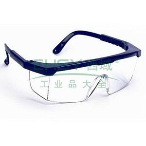 罗卡AL-026 防护眼镜,蓝色镜架,无色镜片