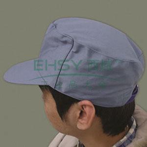 涤卡春秋工作帽,65/35,大众蓝