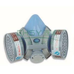 以勒硅胶双盒防毒半面具(含3号滤毒盒MAR-00_)