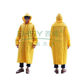 代尔塔407005涤纶风衣版连体雨衣,黄色,L