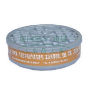 南核 9013 P-A-1滤毒盒3#,防护有机气体或蒸气,适用于8009,9006