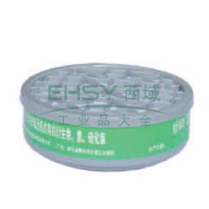南核 9014 P-K-1滤毒盒4#,防护氨及氨的有机衍生物,适用于8009,9006,