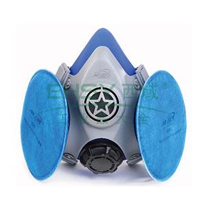 南核 8008 KN100高效过滤液体硅胶半面罩配蓝色滤棉套装
